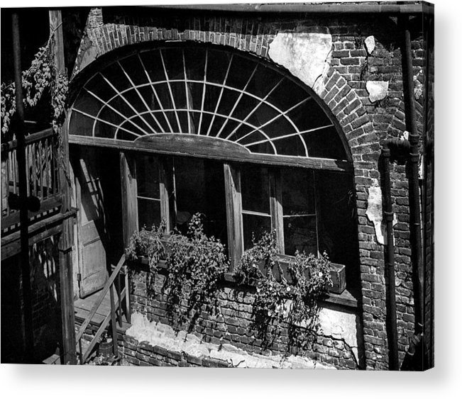 Architecture Acrylic Print featuring the photograph Back Door by Crescent City Collective