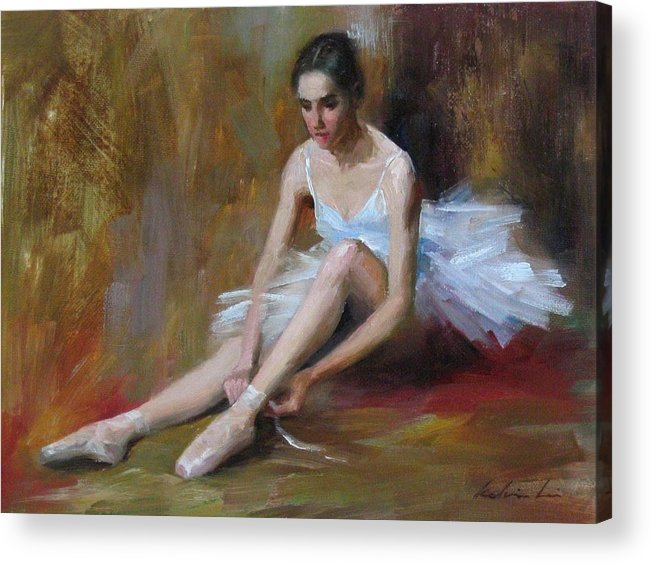 Figurative Acrylic Print featuring the painting Ballerina D by Kelvin Lei