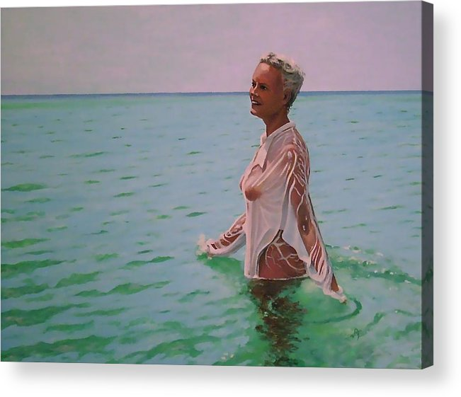 Portrait Acrylic Print featuring the painting Barbara by Dave Kimbrell