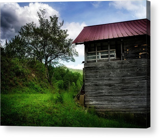 Barn Acrylic Print featuring the photograph Barn After Rain by Greg Mimbs