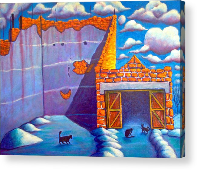 Historic Acrylic Print featuring the painting Basque Ball Court by Steve Lawton
