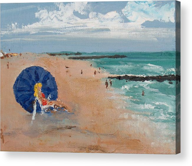 Ocean Acrylic Print featuring the painting Beach Blond by Pete Maier