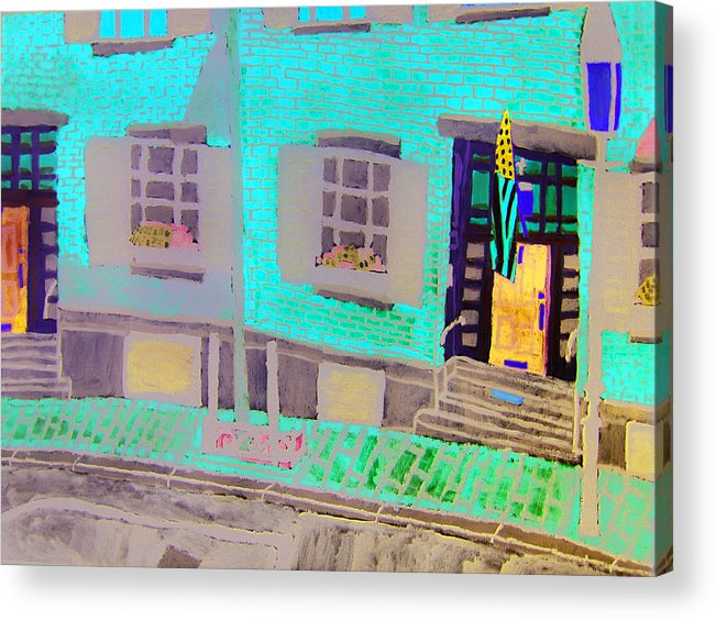 Beacon Hill Acrylic Print featuring the painting Beacon Hill by Sean Cusack
