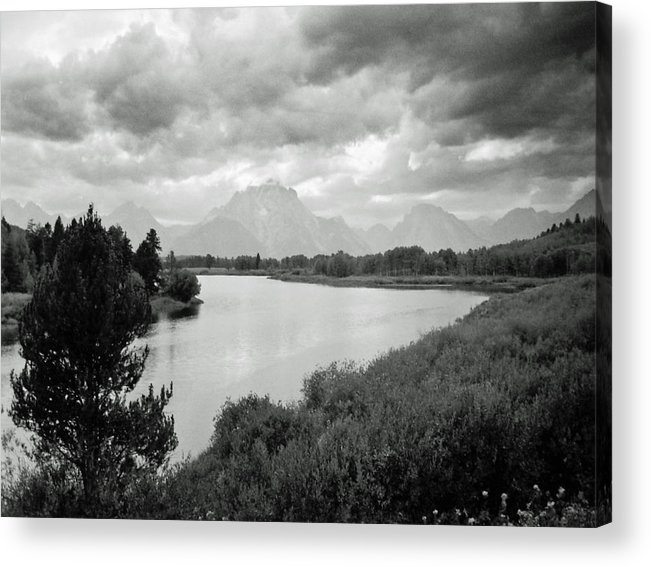Landscape Acrylic Print featuring the photograph Below The Tetons by Allan McConnell