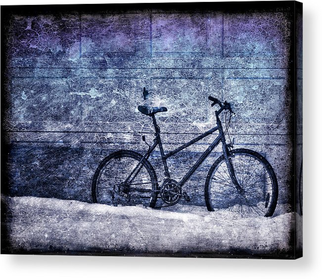 Bicycle Acrylic Print featuring the photograph Bicycle by Evelina Kremsdorf