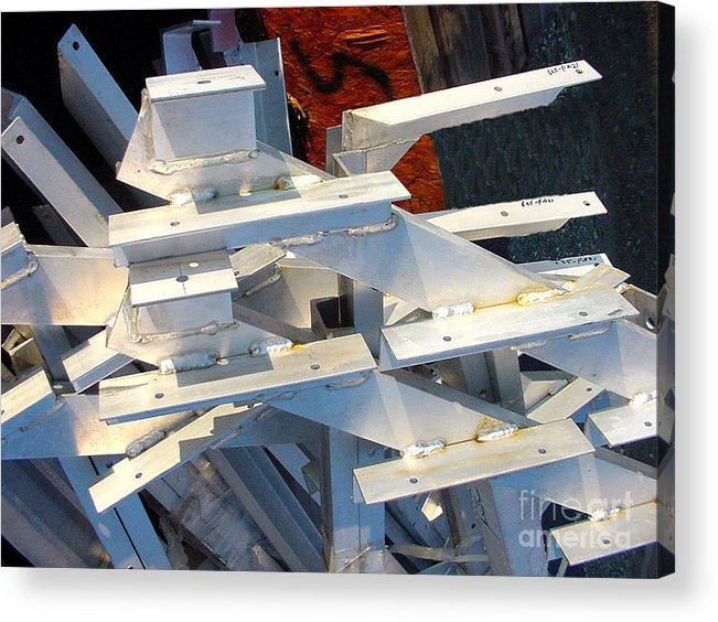 Digital Acrylic Print featuring the photograph Bleacher Unassembled by Ron Bissett