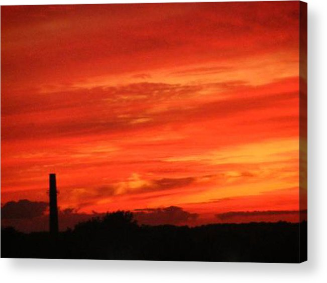 Sky Acrylic Print featuring the photograph Blood-red Sky by Michelle Hoffmann
