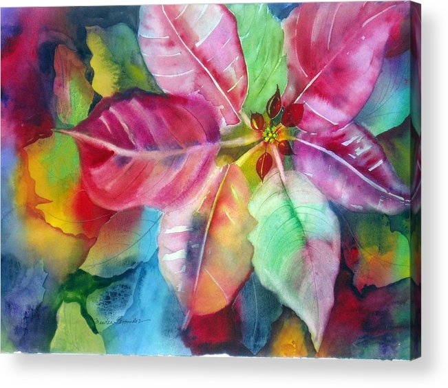 Flower Acrylic Print featuring the painting Bold Bloom by Maritza Bermudez