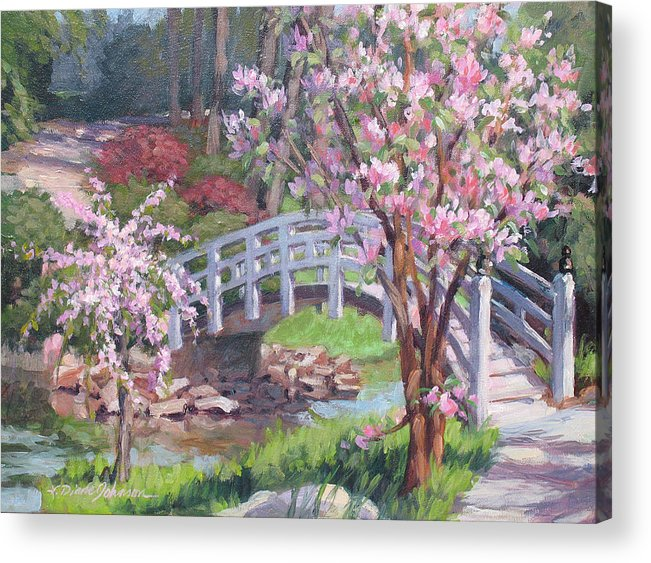 Sarah Duke Garden Acrylic Print featuring the painting Breath Of Spring by L Diane Johnson