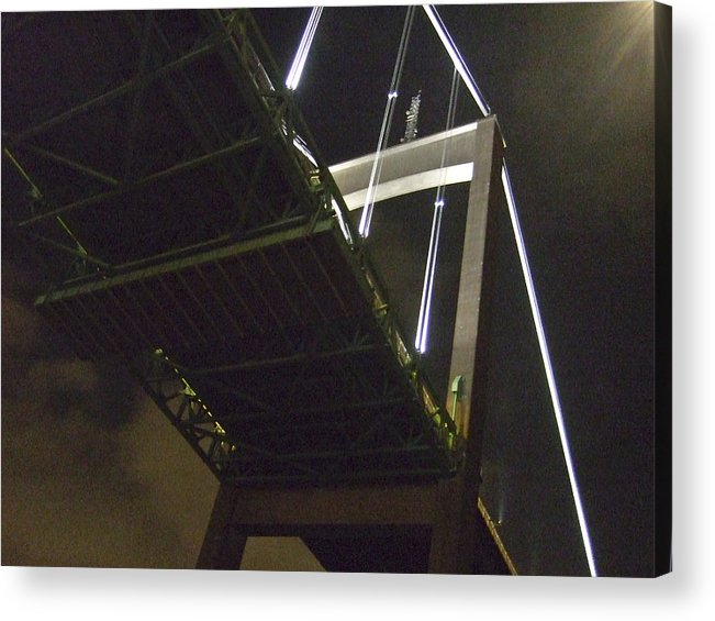 Night Acrylic Print featuring the photograph Bridge No 2 by Dan Andersson