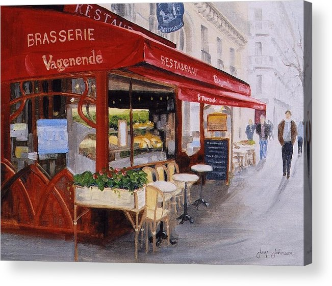 Cafe Acrylic Print featuring the painting Cafe 4 by Jay Johnson
