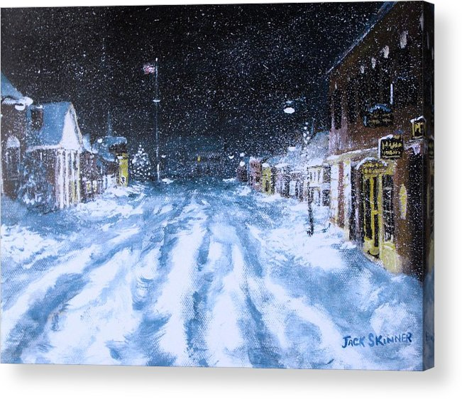Snow Acrylic Print featuring the painting Call Out The Plows by Jack Skinner