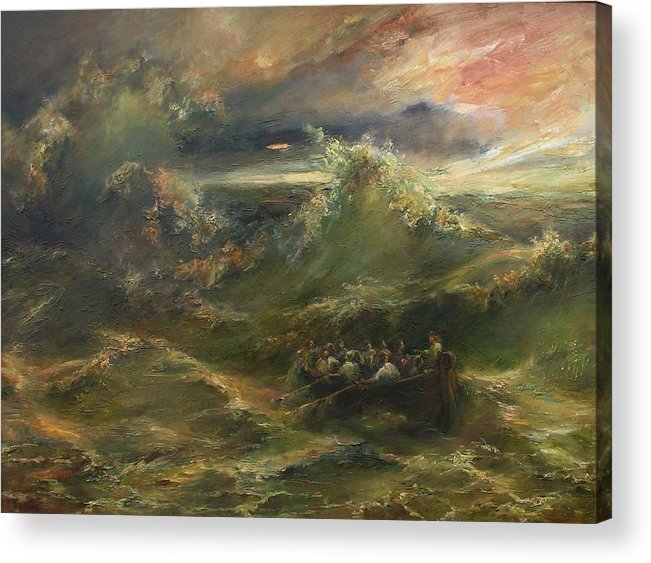 Calming The Storm Acrylic Print featuring the painting Calming The Storm by Tigran Ghulyan