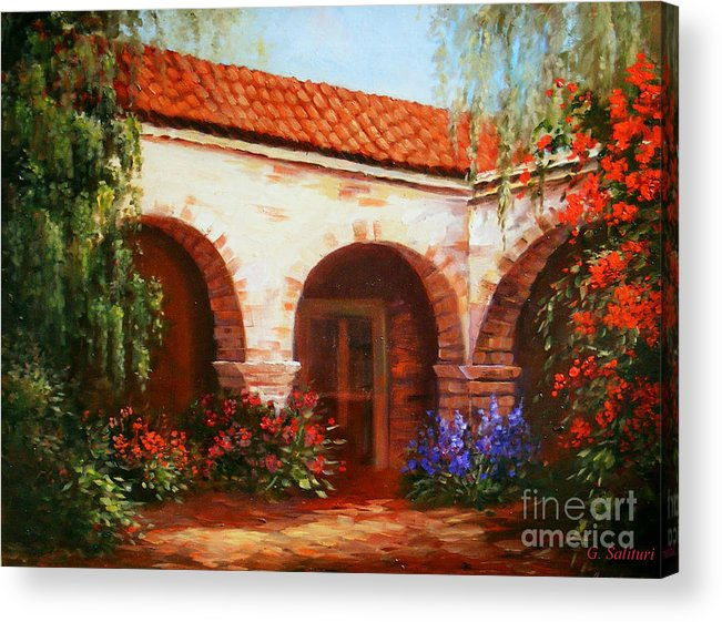 Landscape Acrylic Print featuring the painting Capistrano by Gail Salitui