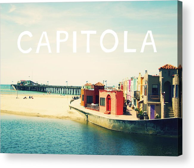 Capitola Acrylic Print featuring the photograph Capitola by Linda Woods