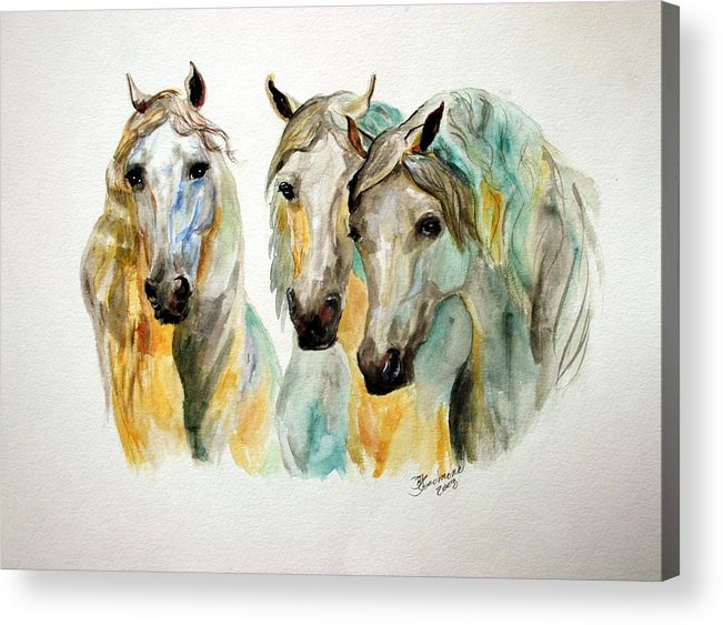 Horses Acrylic Print featuring the painting Cavalia II by BJ Redmond