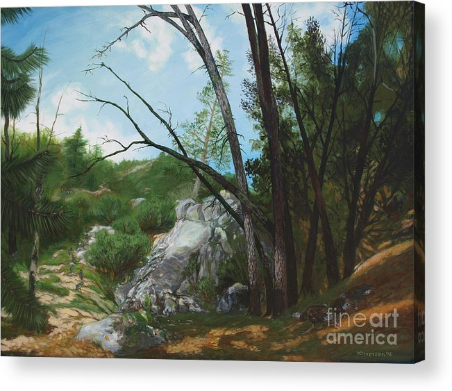 Mountains Acrylic Print featuring the painting Changing Seasons by Jill Iversen