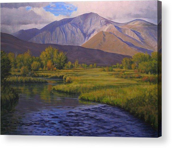 High Sierras Acrylic Print featuring the painting Convict Creek-eastern Sierras by Joe Mancuso