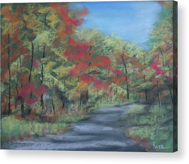 Landscape Acrylic Print featuring the painting Country Road II by Pete Maier