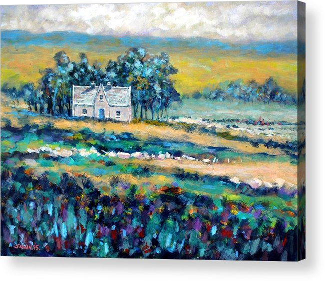Landscape Acrylic Print featuring the painting County Wicklow - Ireland by John Nolan