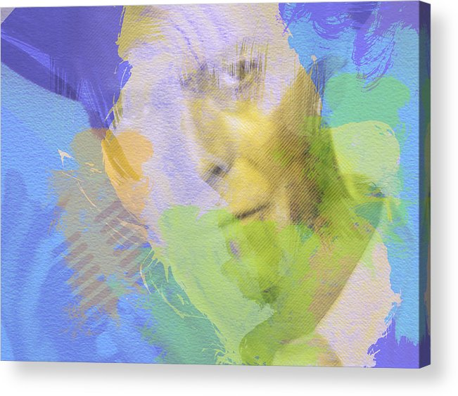David Bowie Acrylic Print featuring the painting David Bowie by Naxart Studio