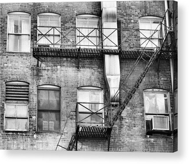 Windows Acrylic Print featuring the photograph Detroit Thru Windows by Leesa Lee