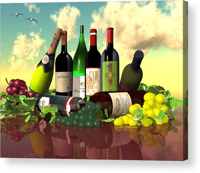 3d Acrylic Print featuring the painting Diverse Spirits by Williem McWhorter