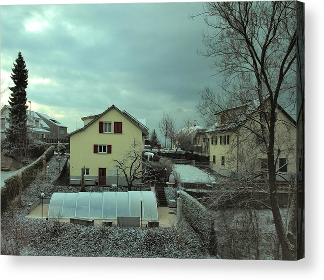 Snow Acrylic Print featuring the photograph Early Spring Morn by Chuck Shafer