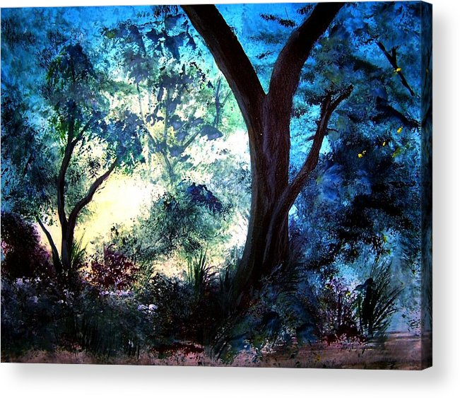Landscape Acrylic Print featuring the painting Enchanted Forest by Sherri Patterson