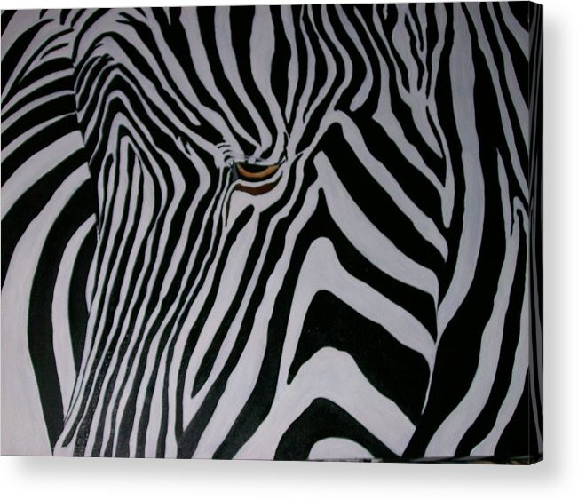 Zebra Acrylic Print featuring the painting Equus Grevyi  by Leo Gordon