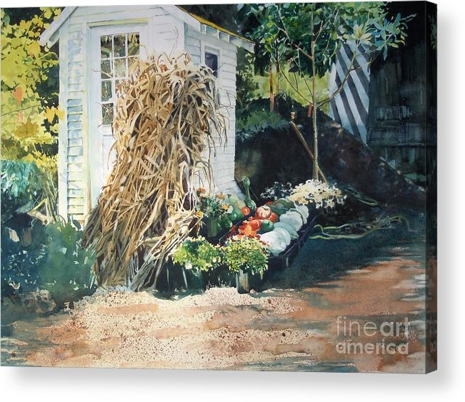 Garden Acrylic Print featuring the painting Fall At Ivy Corners by Elizabeth Carr