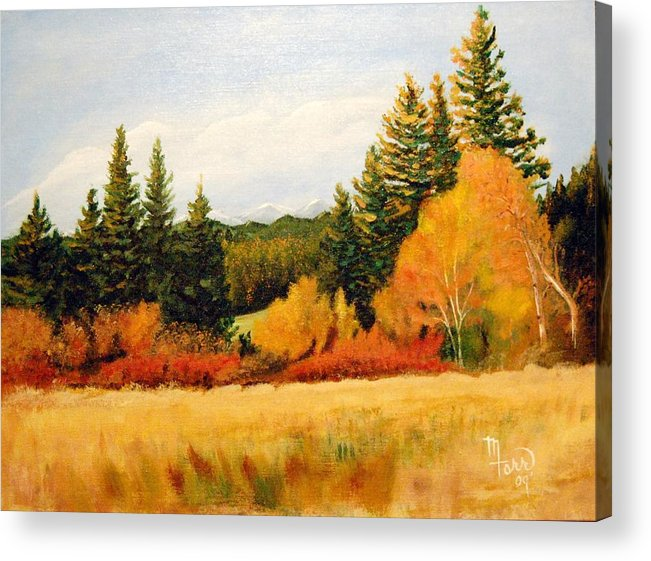 Landscape Acrylic Print featuring the painting Fall In Chattaroy by Mark Farr