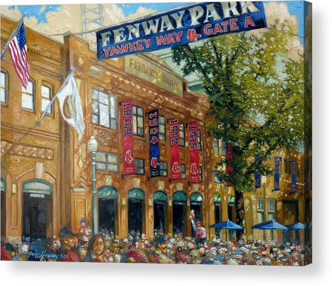 Fenway Park Acrylic Print featuring the painting Fenway Summer by Gregg Hinlicky