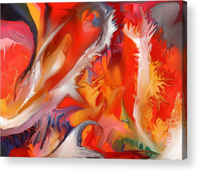 Fire Acrylic Print featuring the painting Fire Storm by Peter Shor