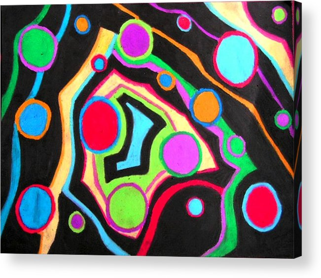Abstract Acrylic Print featuring the drawing Fish Out Of Water by Katina Cote