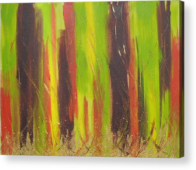 Forest Acrylic Print featuring the painting Forest by Jolene Courtemanche
