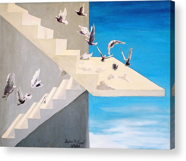 Birds Acrylic Print featuring the painting Form Without Function by Steve Karol