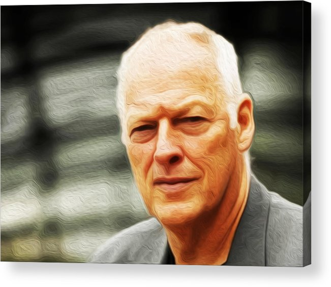 David Gilmour Acrylic Print featuring the painting Gilmour #103 By Nixo by Never Say Never