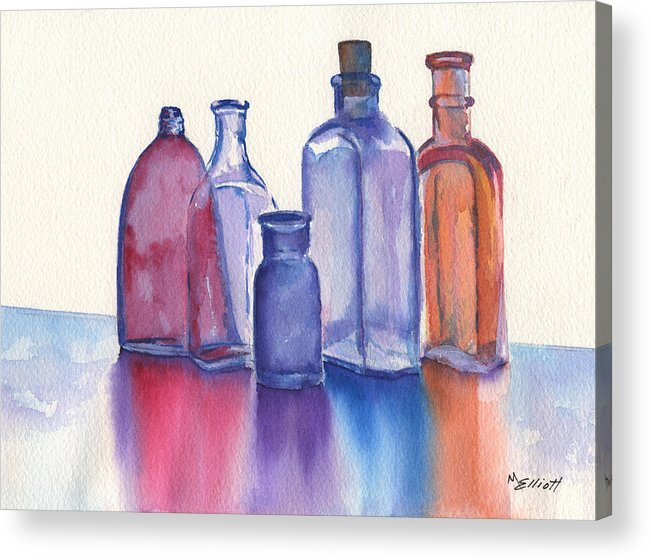 Reflections Acrylic Print featuring the painting Glassy Reflections by Marsha Elliott