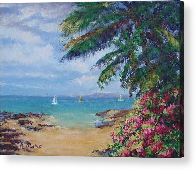 Landscape Acrylic Print featuring the painting Hawaii Calling by Maxine Ouellet