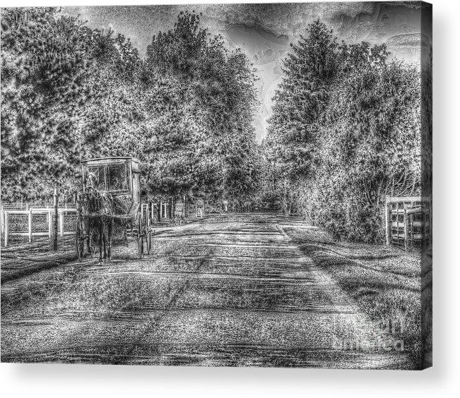 Nappanee Indiana Acrylic Print featuring the photograph Heading Home by David Bearden