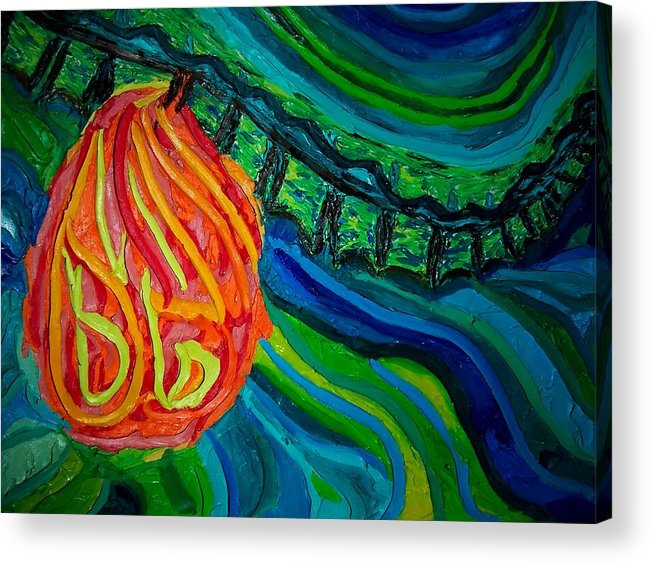 Human Body Acrylic Print featuring the painting Heart Burn by Ira Stark