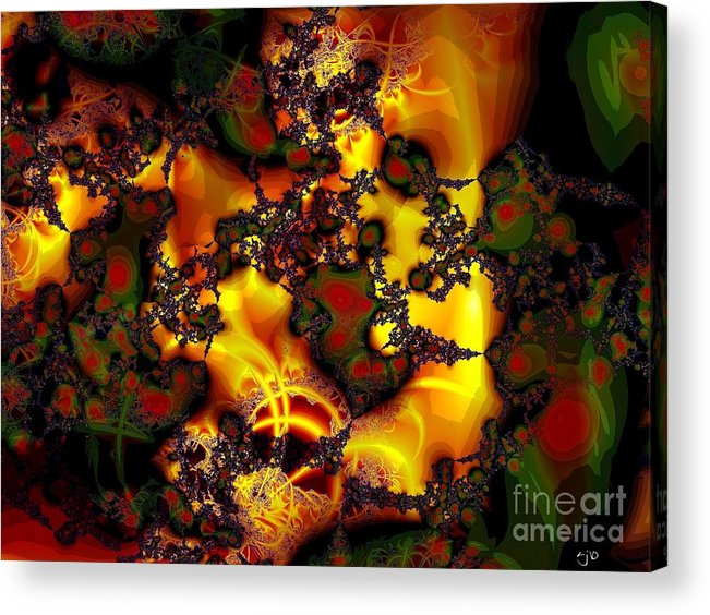 Lace Acrylic Print featuring the digital art Held Together With Lace by Ron Bissett