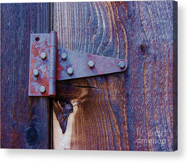 Hinge Acrylic Print featuring the photograph Hinged by Debbi Granruth