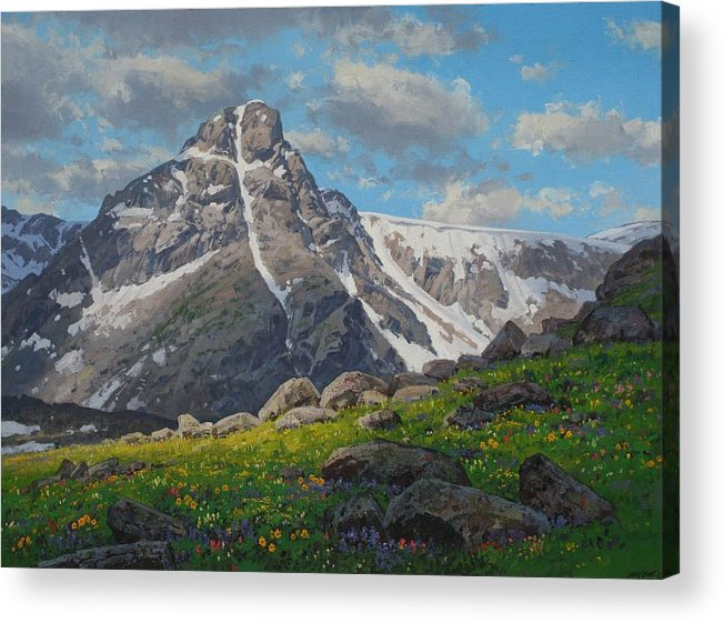 Landscape Acrylic Print featuring the painting Holy Cross Wilderness by Lanny Grant
