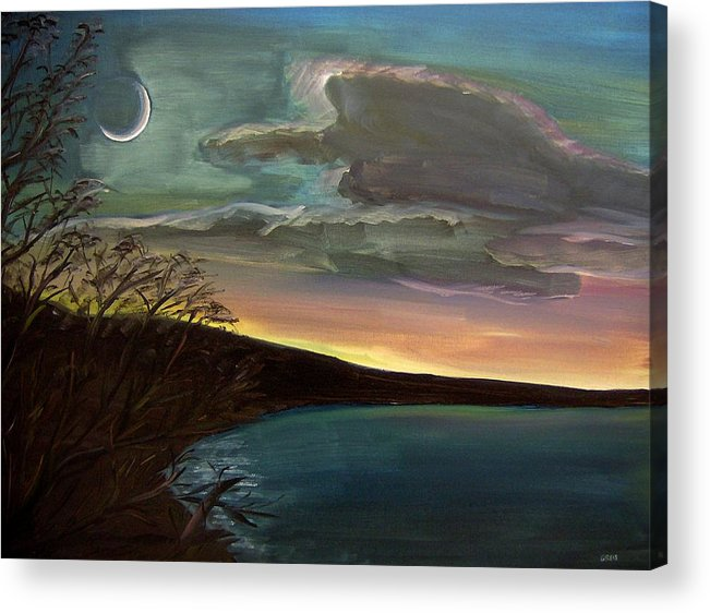 Sunset Acrylic Print featuring the painting Impressionistic Twilight by Clemens Greis