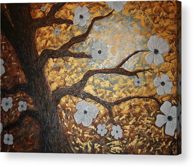 Tree Art Acrylic Print featuring the painting In Bloom by Amy Parker Evans