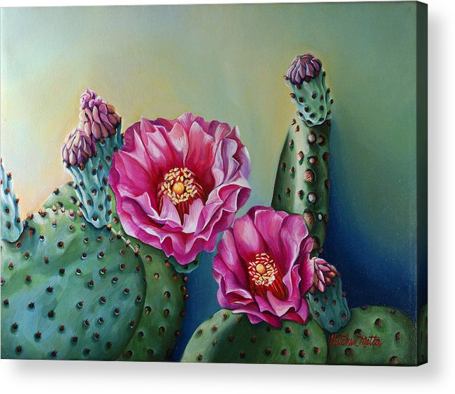 Landscape Acrylic Print featuring the painting Its Good To Have Buds by Gretchen Matta