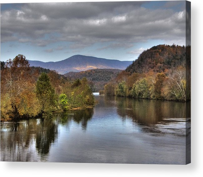 Landscape Acrylic Print featuring the photograph James River 1 by Michael Edwards