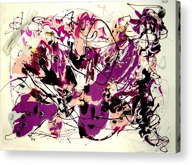 Abstract Acrylic Print featuring the painting Jupiter by Irma Hinghofer-Szalkay